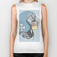 moto Biker Tanks featuring Moto Girl by Cory Mendenhall / Blackwing Arts