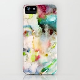 LANGSTON HUGHES watercolor portrait.2 iPhone Case