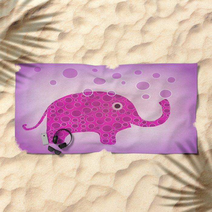 Elephant Blowing Bubbles Beach Towel