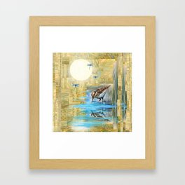 Nature Reflected Series: Speckled Plover Framed Art Print