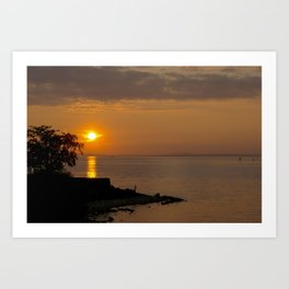 Night falls over Lake Constance Art Print