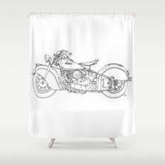 Indian Chief 1948 Shower Curtain