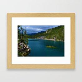 Horseshoe Lake in Jasper National Park, Canada Framed Art Print