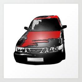 icon swedish car Art Print