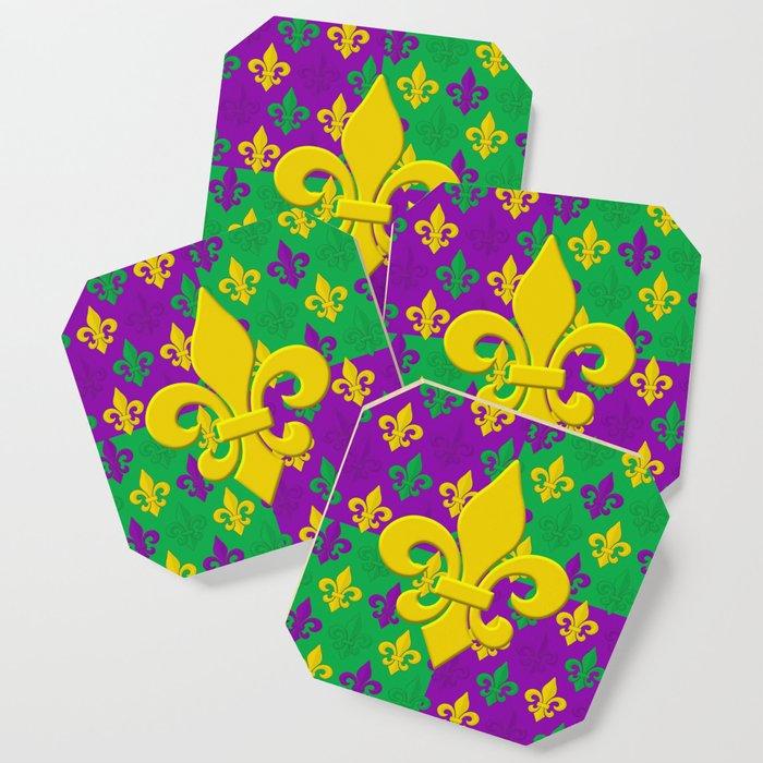Studio Dalio - Mardi Gras Fleur-de-Lis Pattern Coasters