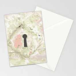 lock by Laura Pizzicalaluna Stationery Cards