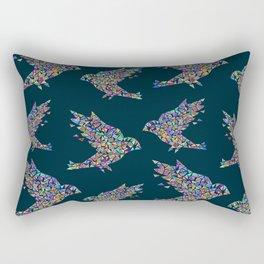 Mosaic bird pattern Rectangular Pillow