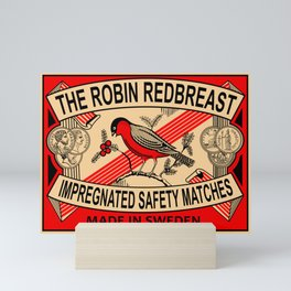 The Robin Redbreast Safety Matches Mini Art Print