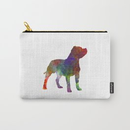 Staffordshire Bull Terrier in watercolor Carry-All Pouch