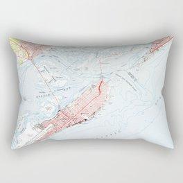 Vintage Map of Ocean City NJ (1952) Rectangular Pillow