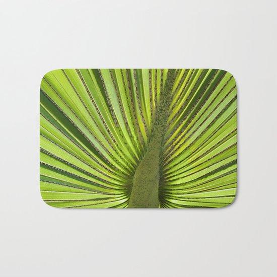 Green Palm Leaf Tropical Plant Bath Mat