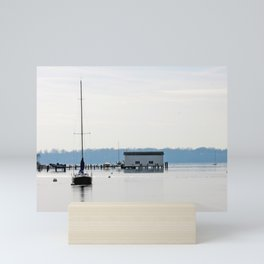 Sailboat on river with reflection | Severn River, MD Mini Art Print