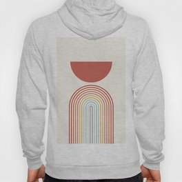 Minimalist lines and shapes no1 Hoody