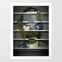 Faces 3 Art Print