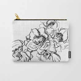 Flowers Line Drawing Carry-All Pouch