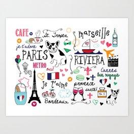 J'Adore France Art Print