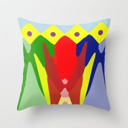 latin colours and forms Throw Pillow