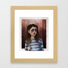 Nancy - Stranger Things Fan Art Framed Art Print