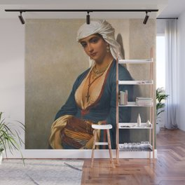 Classical Masterpiece La fidèle by Emile Charles Hippolyte Wall Mural