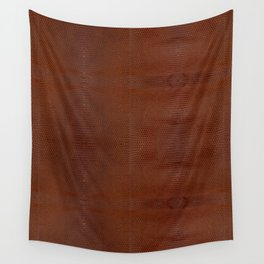 Burnt Orange Leather Wandbehang