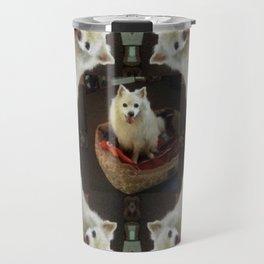 American Eskimo Love Travel Mug
