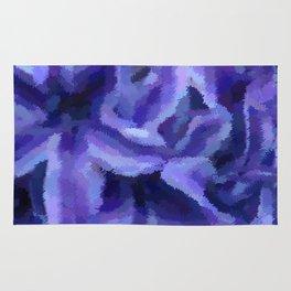 Purple Hibiscus Leaf Tapestry Print #1497 Rug