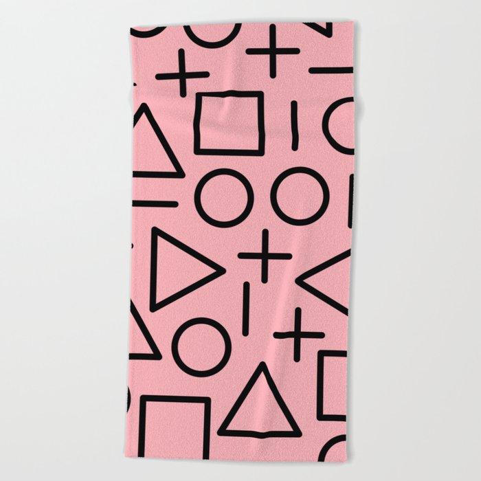 Memphis pattern 70 Beach Towel
