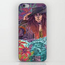 Pirate Lilies iPhone Skin