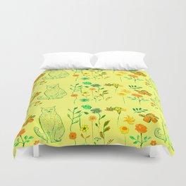 Cat in the garden - Pattern Duvet Cover
