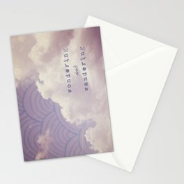 wondering about wandering Stationery Cards