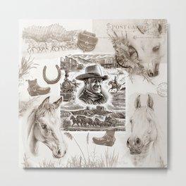 Country Western Metal Print