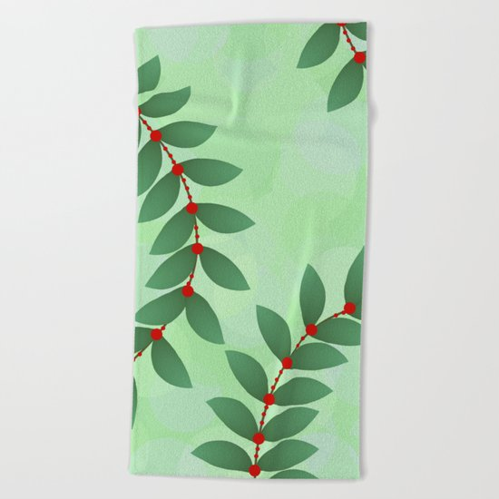 Delicate Holiday Foliage Beach Towel