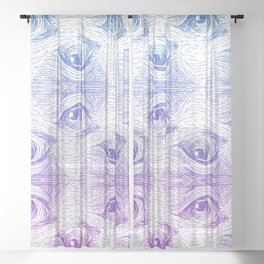 Staring Into Space Sheer Curtain