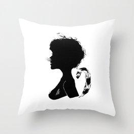 Birdie Silhouette Throw Pillow