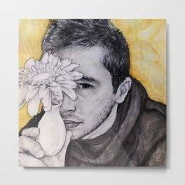 Tyler Joseph - Floral Metal Print