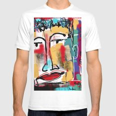 It's over MEDIUM White Mens Fitted Tee