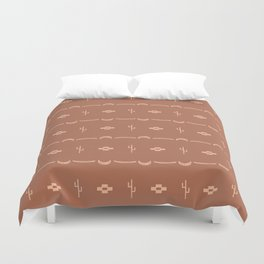 Adobe Cactus Pattern Duvet Cover