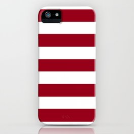 Heidelberg red[2] - solid color - white stripes pattern iPhone Case