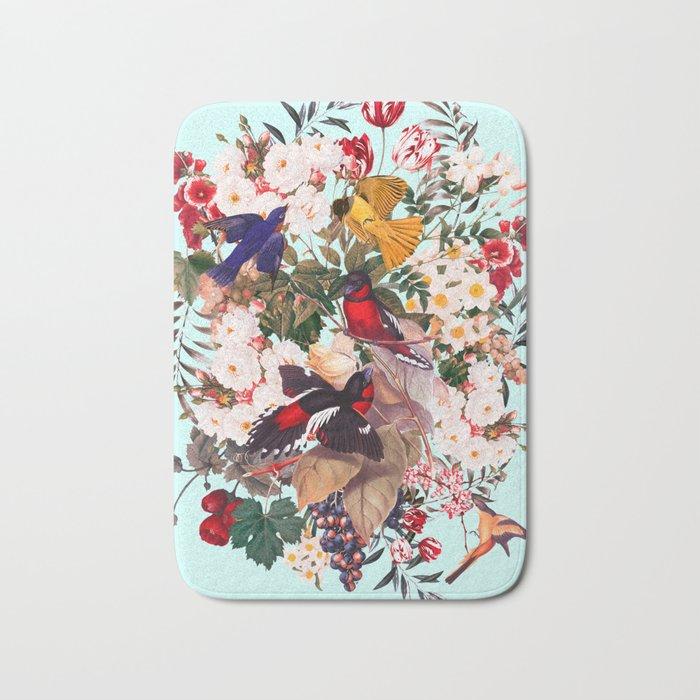 Floral and Birds XXXI Bath Mat
