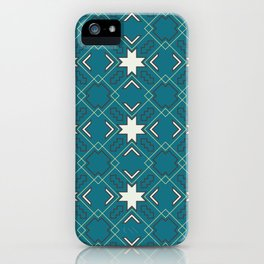 Ethnic pattern in blue iPhone Case