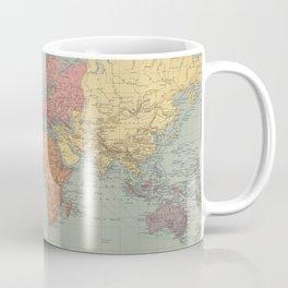 Vintage Map of The World (1889) Coffee Mug