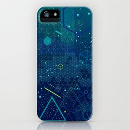 Symbols and elements of Sacred geometry iPhone Case