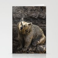 bears Stationery Cards featuring Bears by Veronika