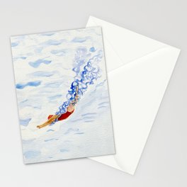 Swimmer - diving Stationery Cards