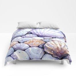 Sea Shells Amethyst Comforters