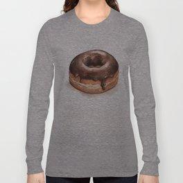Chocolate Glazed Donut Long Sleeve T-shirt