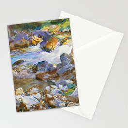 """John Singer Sargent """"Mountain Stream"""" Stationery Cards"""