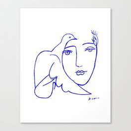 Dove Face by Picasso Canvas Print