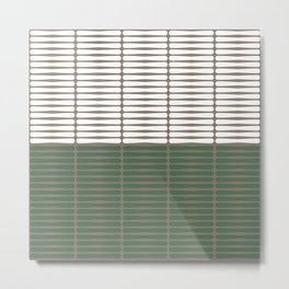 gomila (green/white) Metal Print