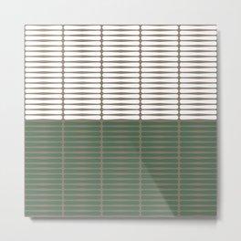 gomila (green/white) Metal Print